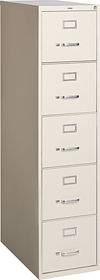 Staples 5-Drawer Letter Size Vertical File Cabinet, Putty ...