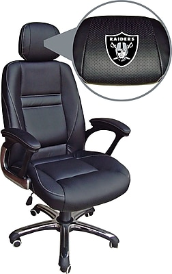 oakland raiders chair recliner chairs harvey norman wild sports nfl leather executive staples https www 3p com s7 is