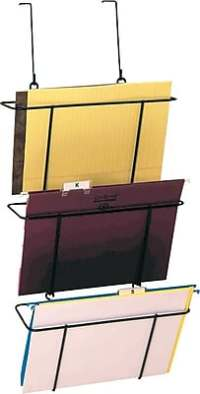 Staples Cubicle/Partition Hanging Triple File Organizer ...