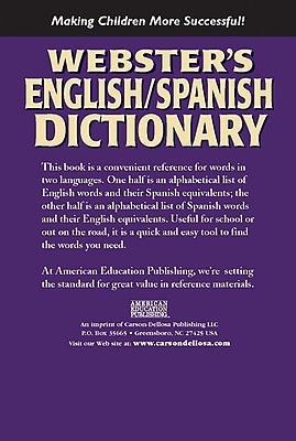 Compare Buy Webster S 769615902 English Spanish