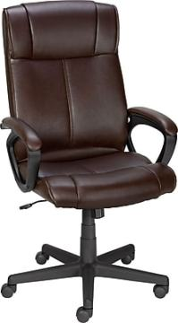 Staples Turcotte Luxura High Back Office Chair, Brown ...