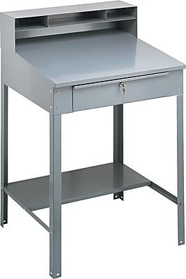 Tennsco SR57MG Shop Desk Gray  Staples