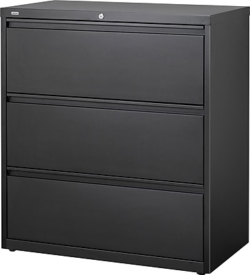 Staples Commercial 3Drawer Lateral File Cabinet Black