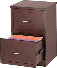 Staples Vertical Wood File Cabinet, 2-Drawer, Light ...