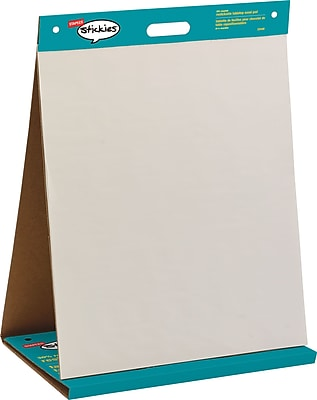 Staples stickies  trade  repositionable tabletop easel also pads  buy paper chart rh