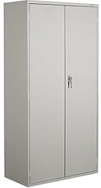 "Staples 72"" Locking Steel Storage Cabinet, Grey | Staples"