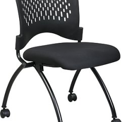 Folding Chair Desk Grey Bucket Computer Office Star Proline Ii Fabric Deluxe Armless With Plastic Back Coal