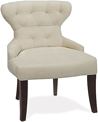 armless chair office posture chairs for living room star ave six fabric oyster velvet cvs26 x12 staples