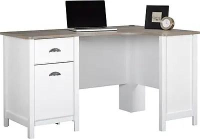 Ameriwood Dover Desk Federal WhiteSonoma Oak  Staples
