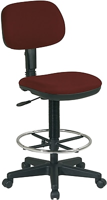 drafting chairs staples swivel barrel chair office star dc517 227 burgundy buy now at com work smart fabric armless