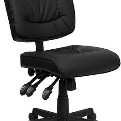 Black Leather Desk Chairs Kitchen Chair Cushions Canadian Tire Office Staples Flash Furniture Leathersoft Computer And Armless Go1574bk