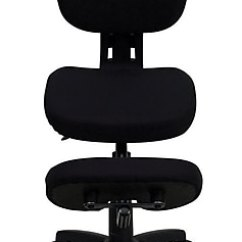 Office Chair Posture Buy Plastic Kids Table And Chairs Clearance Flash Furniture Kneeling Fabric Armless Black Wl1430 Staples