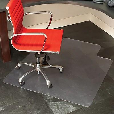 office chair mat ottoman sleeper staples 45 x 53 hard floor with lip