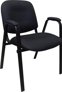 Marco Fabric Stacking Chairs with Arms, Black/Gray, Pack ...