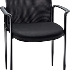Waiting Chairs Rocking Chair Cover Nursery Reception Room Staples Roaken Mesh Guest With Arms Black
