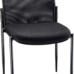 Office Chair Without Arms Stool Repair Staples Roaken Mesh Guest Black Https Www 3p Com S7 Is