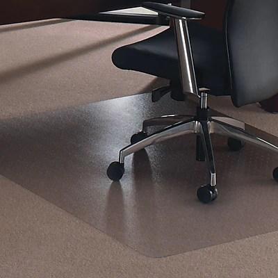 floortex sous chaise en polycarbonate pour tapis epais rectangle 47 po x 35 po