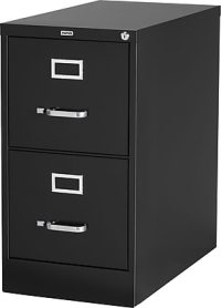 "Staples  Vertical File Cabinet, 25"" 2-Drawer, Letter Size ..."
