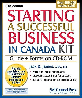Self Counsel Press Starting a Successful Business in Canada Kit ...