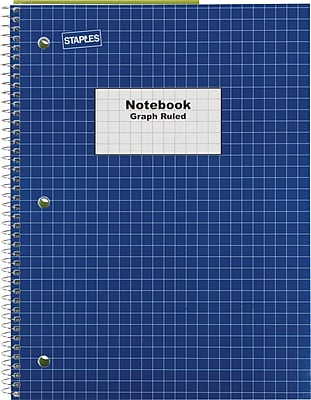 5 subject graph paper notebook