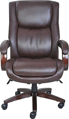 la z boy black leather executive office chair uk glass table with chairs staples winston big tall brown or