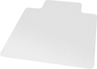 office chair mat 45 x 60 black chairs target mats for carpet flooring staples 53 flat pile