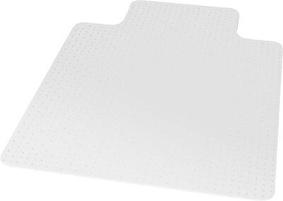 desk chair mat for high pile carpet rocker recliner covers staples 45 x 53 lip