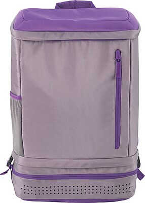 Designed By Students Back2Back School Backpack GreyPurple