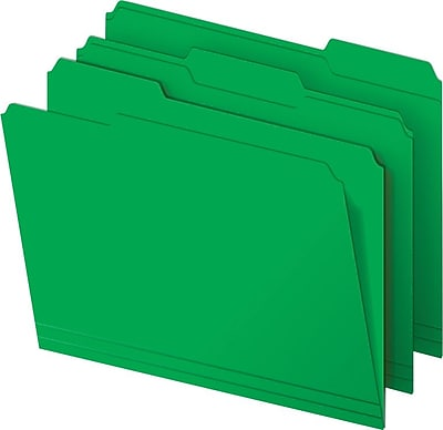 Staples Heavyweight Colored File Folders 3 Tab Letter