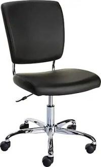 Staples 27373 Nadler Luxura Office Chair, Armless, Black ...