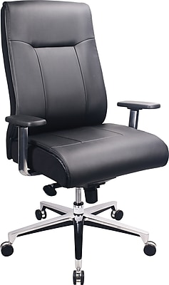 staples computer chairs plastic bentwood bistro tempur-pedic leather and desk office chair, fixed arms, black (tp1001-blk) | staples®