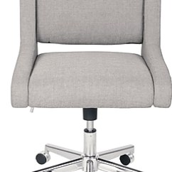 Armless Chair Office How To Build Chairs Broyhill Lynx Fabric Executive Oatmeal Color 46436 Staples