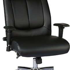 Black Leather Desk Chairs Mesh Pool Lounge Staples Sevit Bonded Office Chair