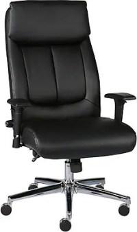 Staples Sevit Bonded Leather Office Chair, Black   Staples