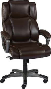Staples Washburn Bonded Leather Office Chair, Brown | Staples