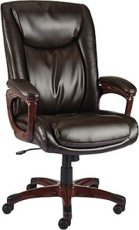 Staples Westcliffe Bonded Leather Managers Chair, Brown ...
