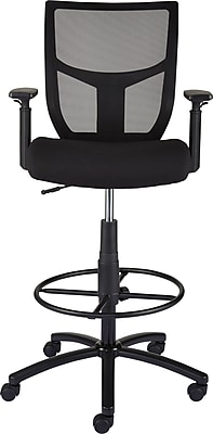 drafting chairs staples folding butterfly chair office stools cabal mesh and fabric stool black