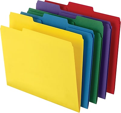 staples heavyweight colored file