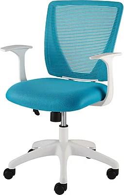 Staples Vexa Mesh Chair White  Teal  Staples
