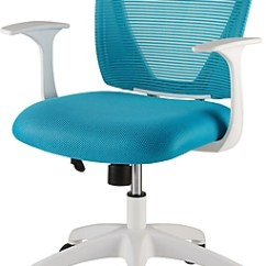 Desk Chair Turquoise Plastic Chairs Factory Staples Vexa Mesh White Teal