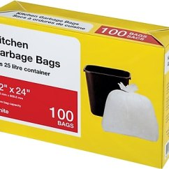 Kitchen Garbage Bags Shoes For Workers Large White 100 Pack Staples