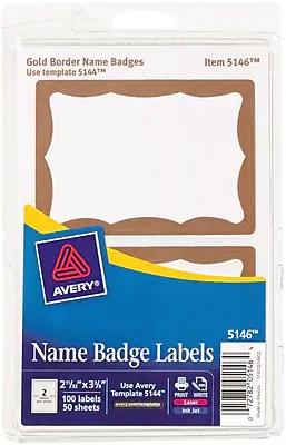 avery name badge adhesive