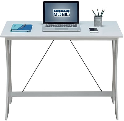 staples desks and chairs lee west egg chair techni mobili modern matching desk set colors white gray https www 3p com s7 is