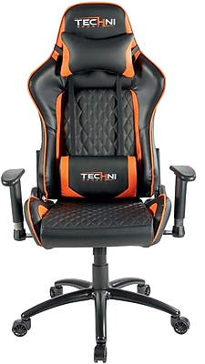 video game chair fishing no arms techni sport ts 5000 ergonomic gaming staples orange https www 3p com s7 is