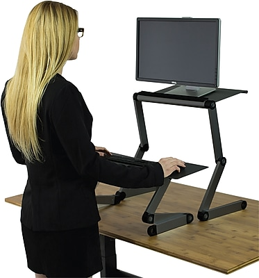 Uncaged Ergonomics WorkEZ Standing Desk Black WESDb