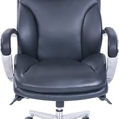 La Z Boy Big Man Chair And Half Glider Pro Active Bonded Leather Tall Executive Black Proform Lumbar High Back