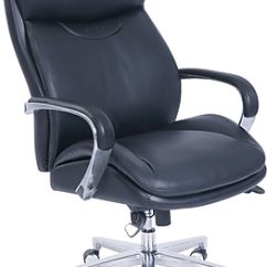 La Z Boy Black Leather Executive Office Chair Uk Define Posture Chairs Staples Proform Bonded Big Tall