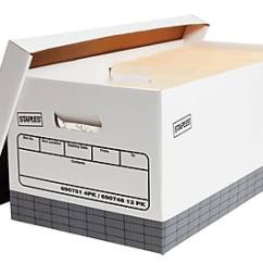 Storage Box Chair Philippines Upholstery Cost File Boxes Staples Corrugated Letter Size White Gray 4 Carton 2489601