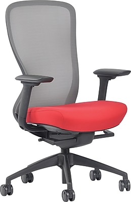 red desk chair staples chill out ayalon fabric seat jet mesh task https www 3p com s7 is