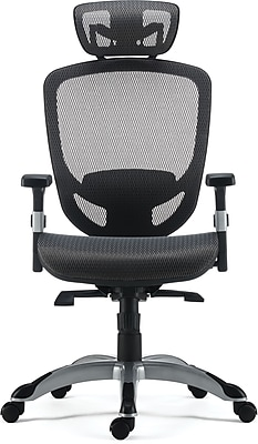 mesh task chair mid century modern accent staples hyken technical silver 53293 charcoal gray